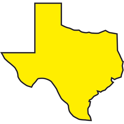 400x400 Texas Outline Free Clipart Of Texas