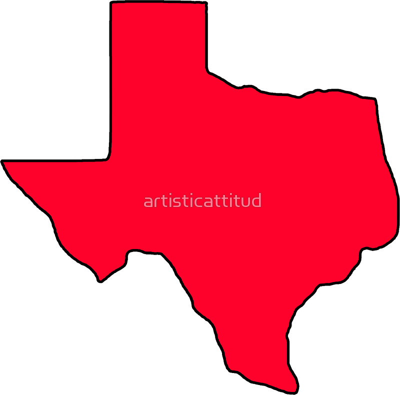 800x790 Texas Red Outline Shape Stickers By Artisticattitud Redbubble