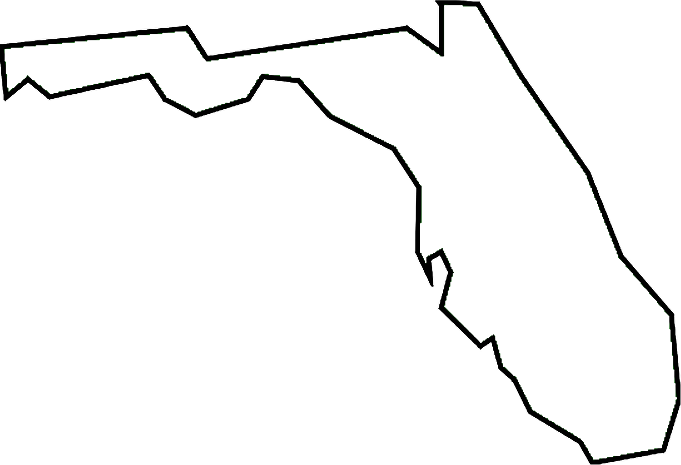 1350x922 State Of Florida Outline Clip Art