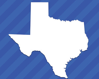 340x270 Texas Mirror Wall Mirror State Outline Silhouette Tx
