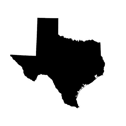 500x500 Texas State Outline Archives