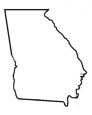 303x379 Clipart Outline Of The State Of Georgia