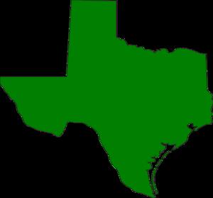 300x279 Green Texas State Clip Art