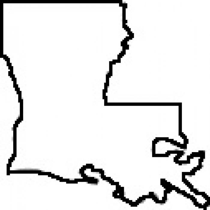 700x700 Outline Louisiana Clipart