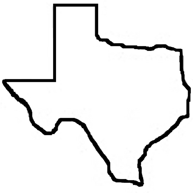 655x655 Outline Of The State Of Texas Collection