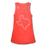 190x190 Texas State Tank W Texas Outline On Back Tank Top College Life