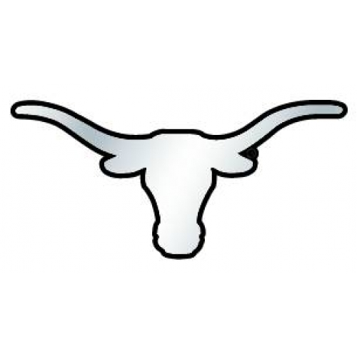 500x500 Outline With Longhorn Clipart