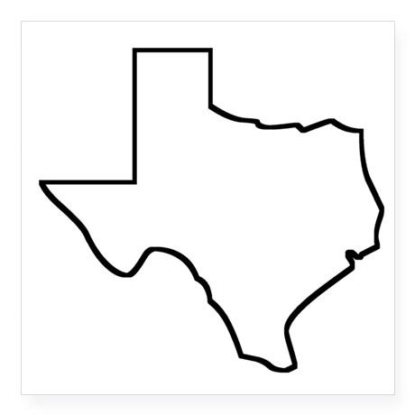 460x460 Texas Outline Clipart