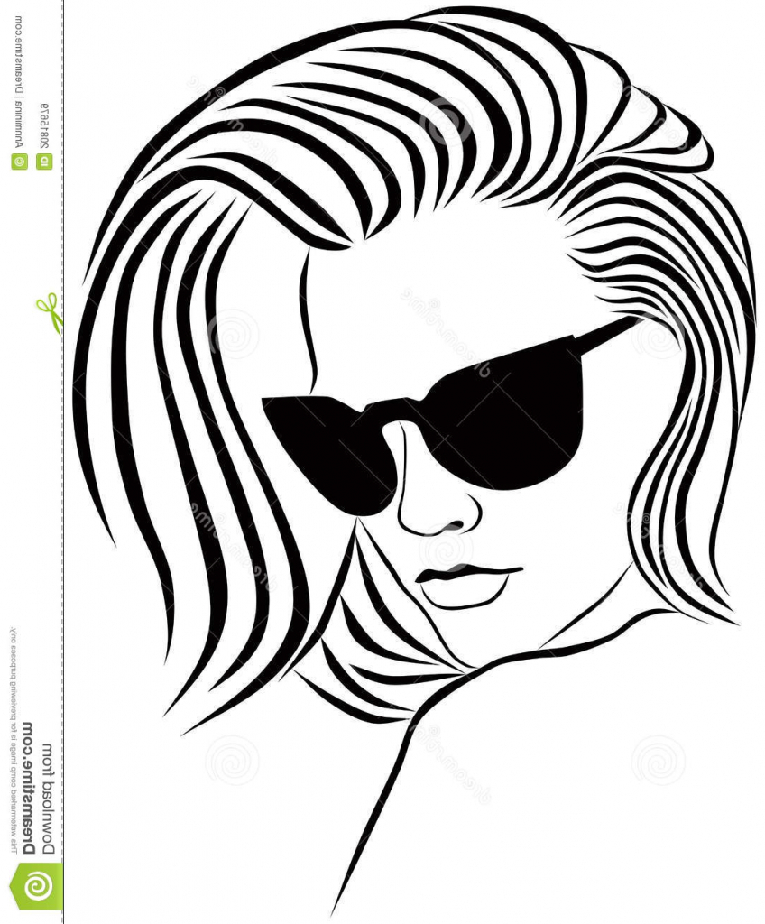 848x1024 Face Drawing Outline Woman Female Face Drawing Outline Fashion