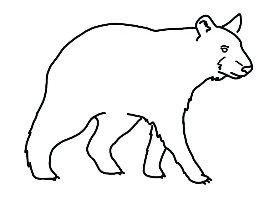 863x639 Black And Bear Drawing Library Coloring Pages Flowers Hearts