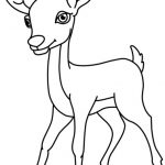 150x150 Deer Black And White Clipart Animals Clipart Deer Black White