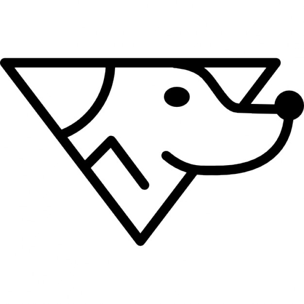 626x626 Dog Head Variant Outline Icons Free Download