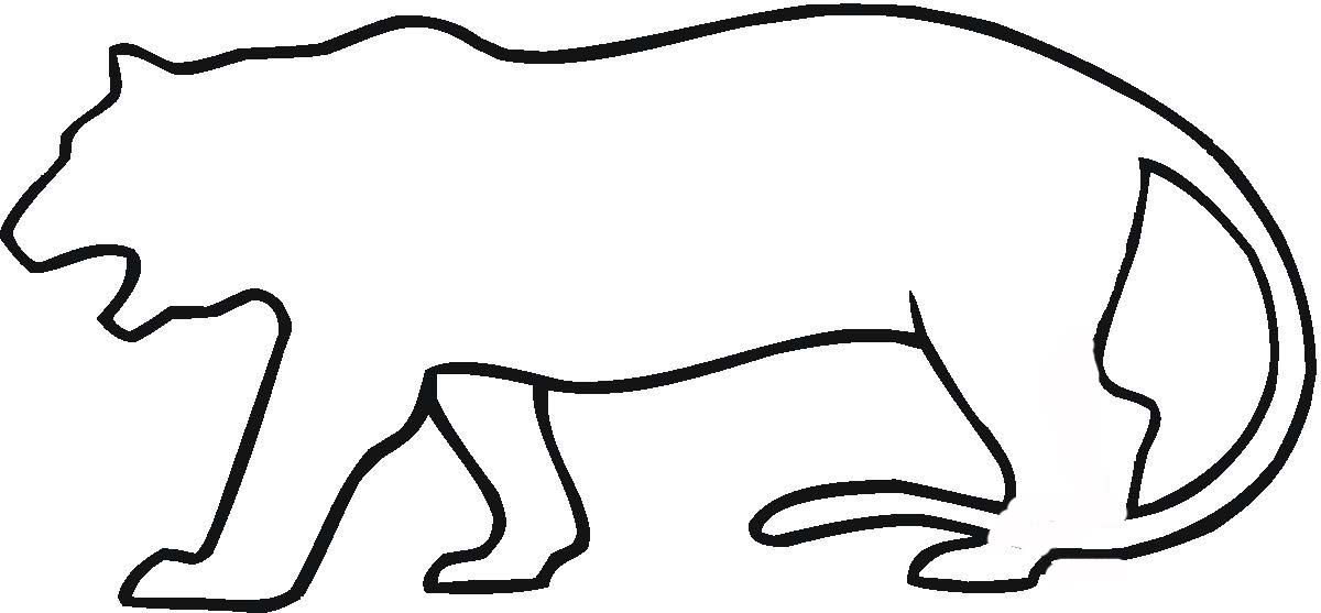 1200x557 Tiger Outline Clipart