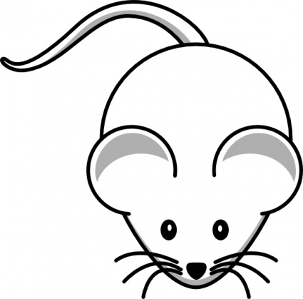 425x419 Animals Baby Computer Mouse Black Simple Outline White Cartoon