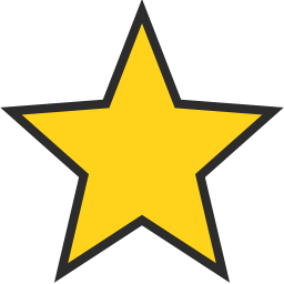 256x256 Star Icon Outline Filled