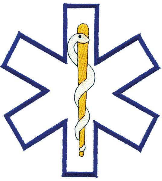 537x600 Star Of Life Outline Embroidery Designs, Machine Embroidery