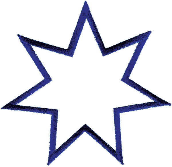 600x583 7 Point Star Clipart