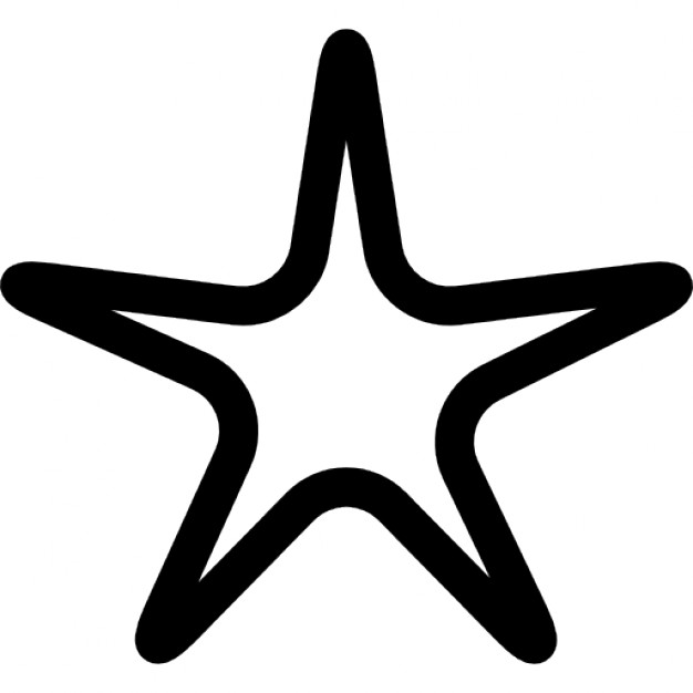 626x626 Star Outline Icons Free Download