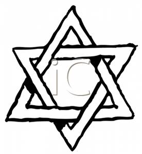 276x300 And White Outline Of A Star Of David
