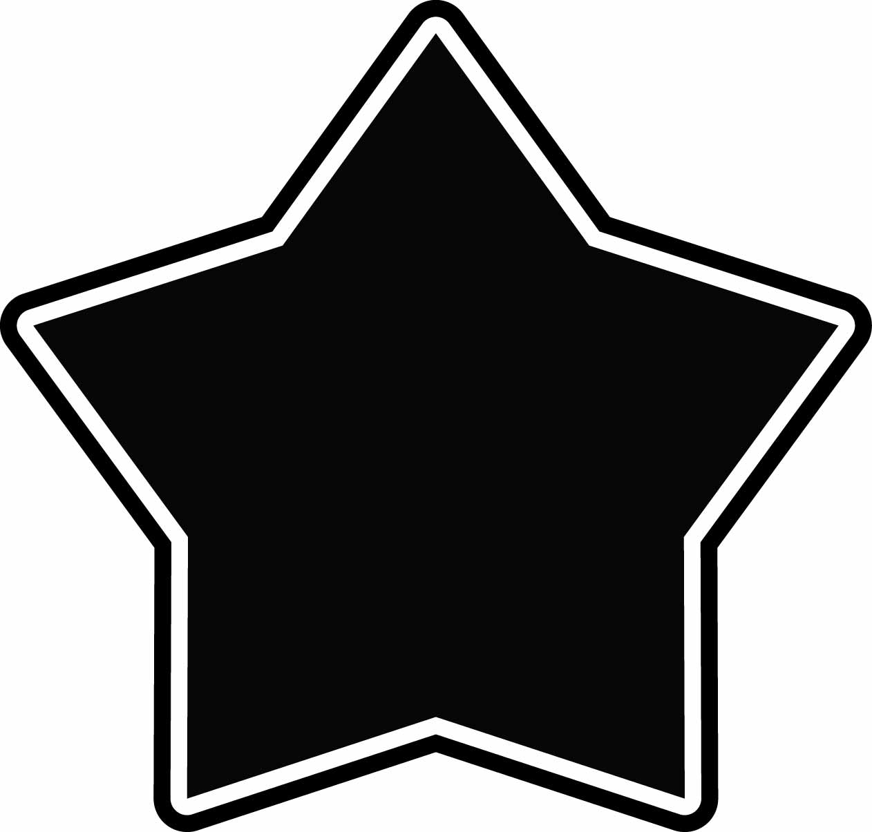 1262x1205 Best Star Outline