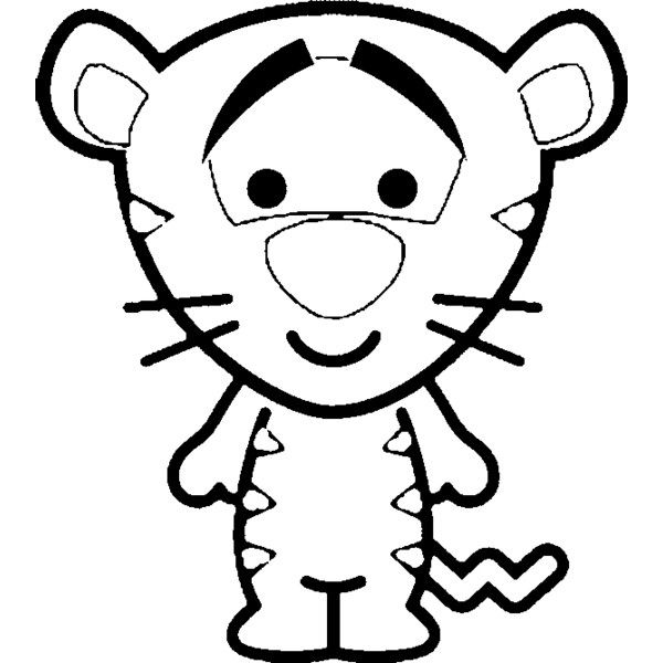 600x600 Disney peek a boo character clipart outlines