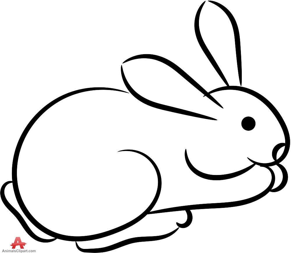 999x869 Hare clipart rabbit outline