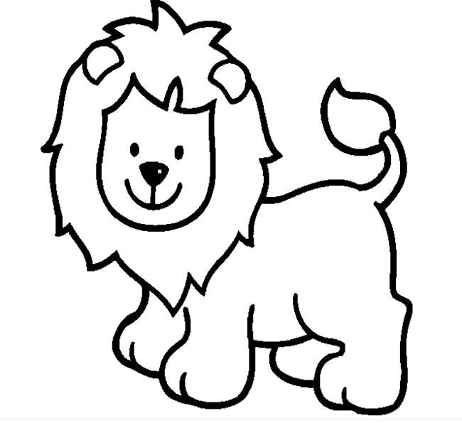 650x595 Lion Template