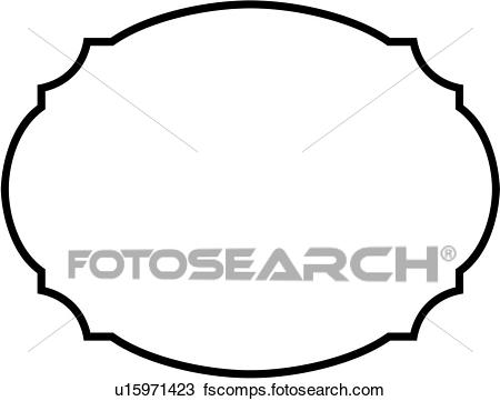 450x361 Clipart Of , Basic, Blank, Border, Oval, Sign, Panel, Shapes