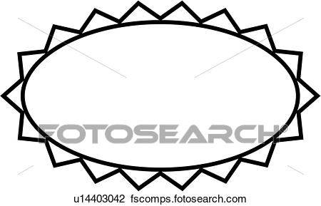 450x289 Clipart Of , Blank, Border, Fancy, Frame, Oval, Simple, U14403042