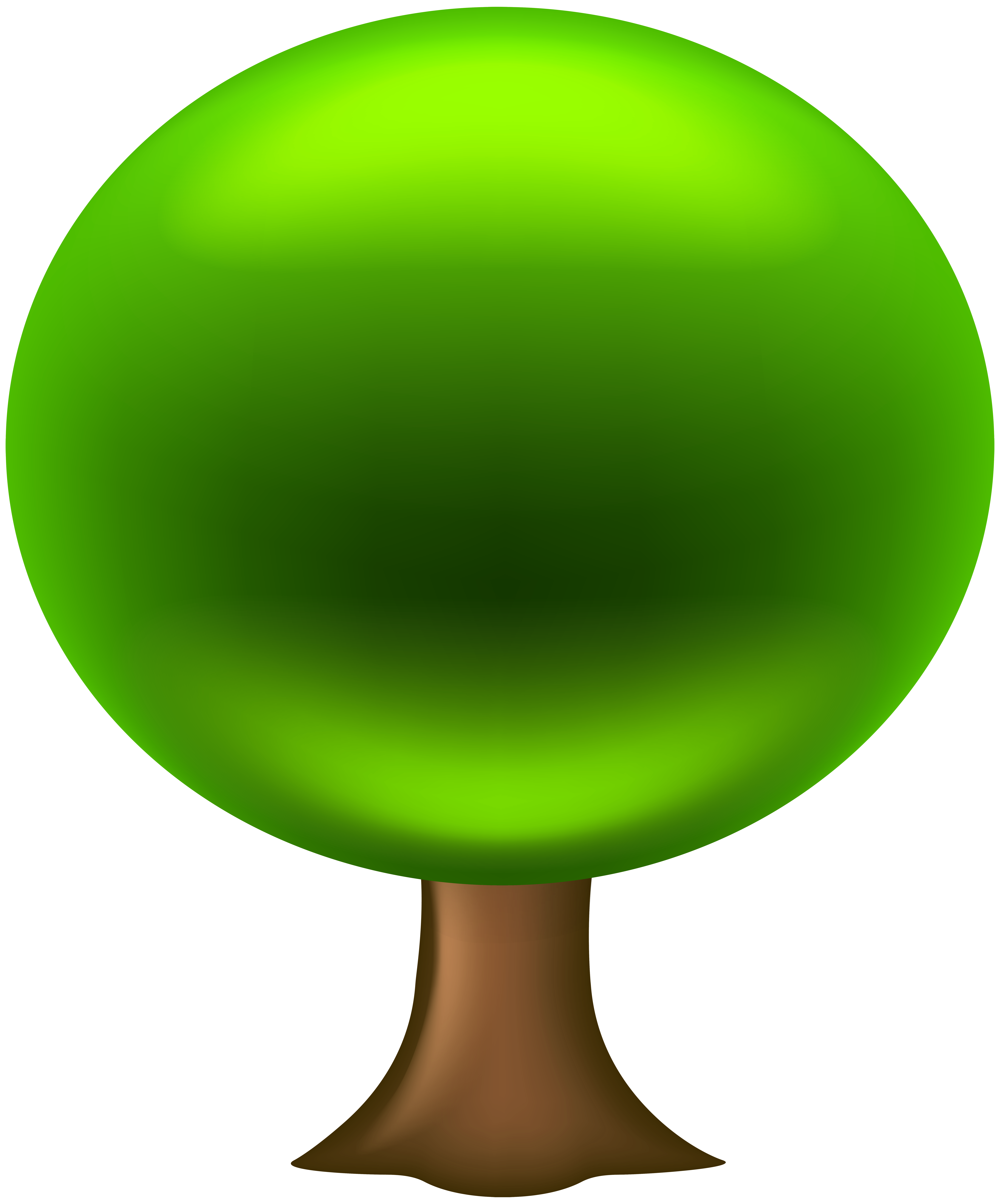 6646x8000 Oval Tree Png Clip Art