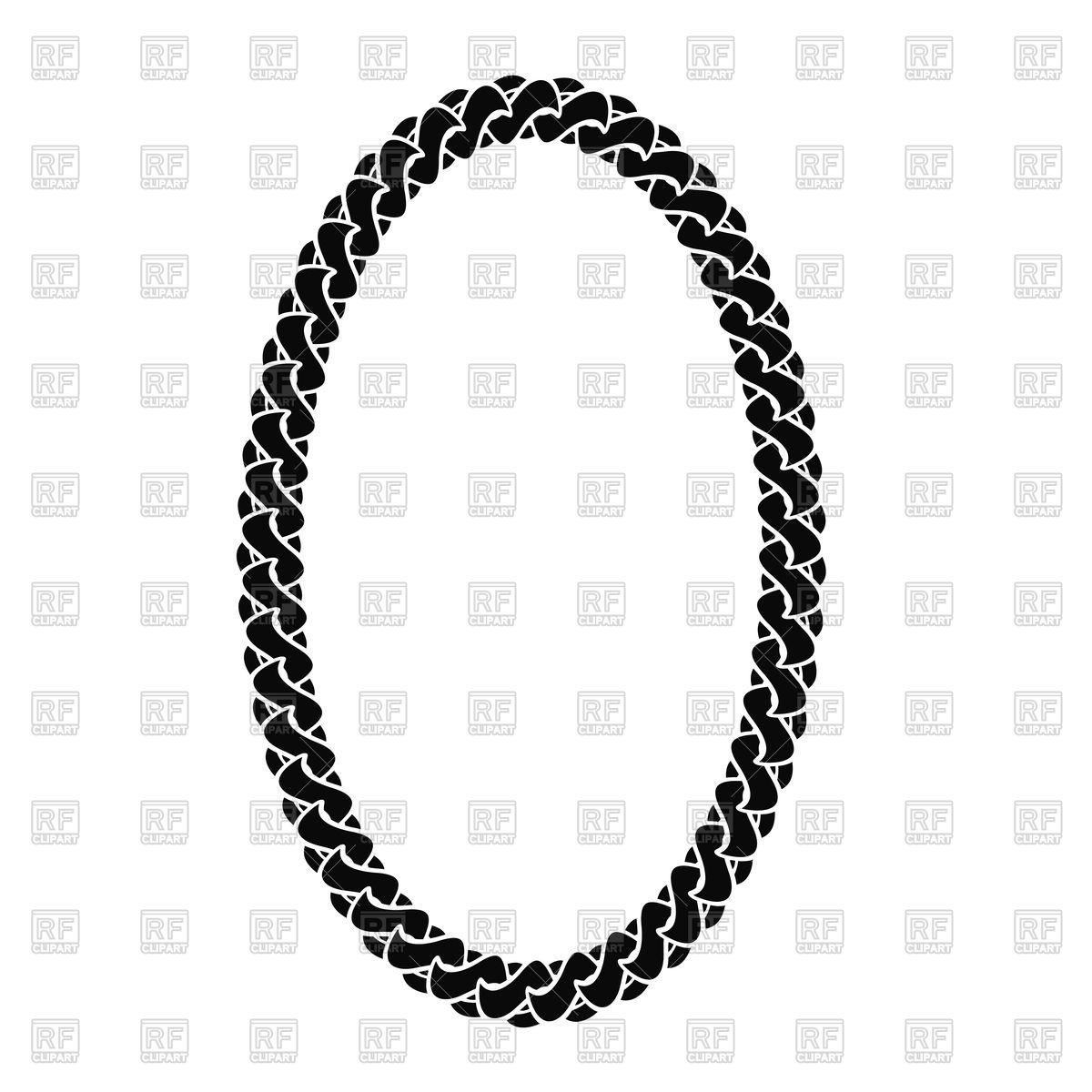 1200x1200 Black Chain Oval Frame Royalty Free Vector Clip Art Image