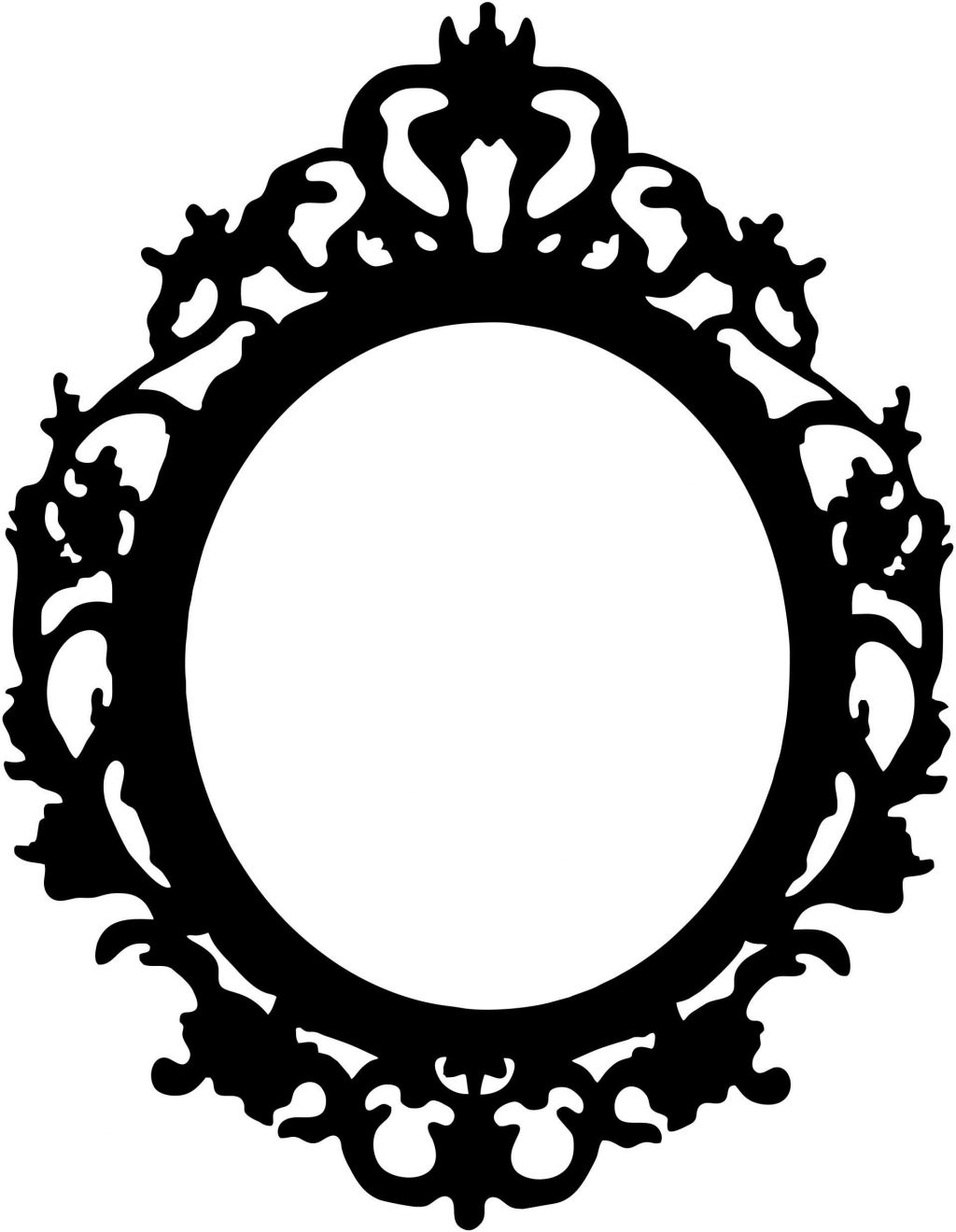1024x1320 Top Frame Antique Oval Border Clipart Photos