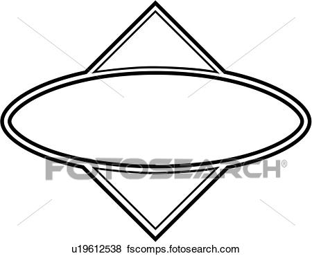 450x370 Clip Art Of , Blank, Border, Contemporary, Fancy, Frame, Oval
