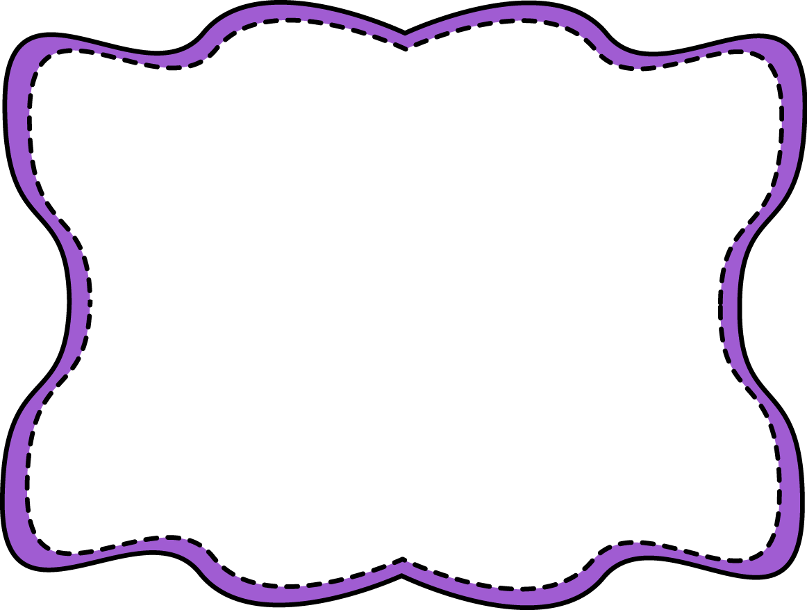 1162x878 Purple Wavy Stitched Frame