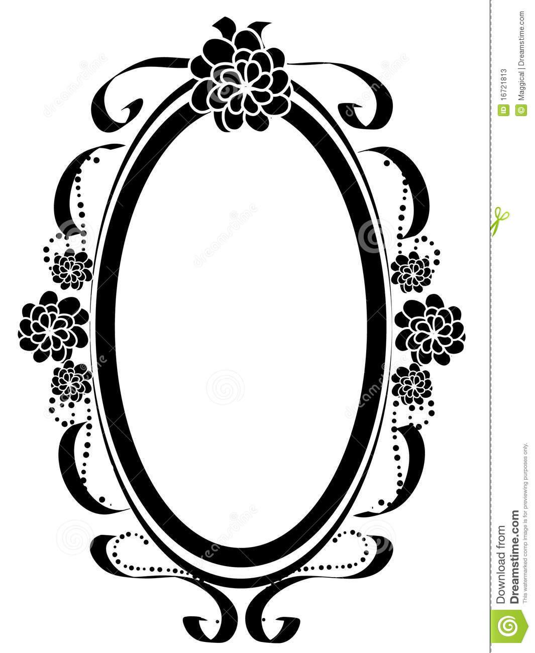 1065x1300 Vintage Oval Frames Vector