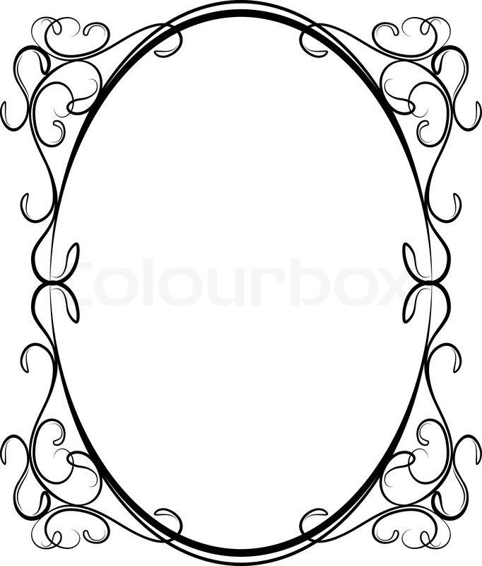 682x800 Czeshop Images Oval Filigree Frame Clip Art