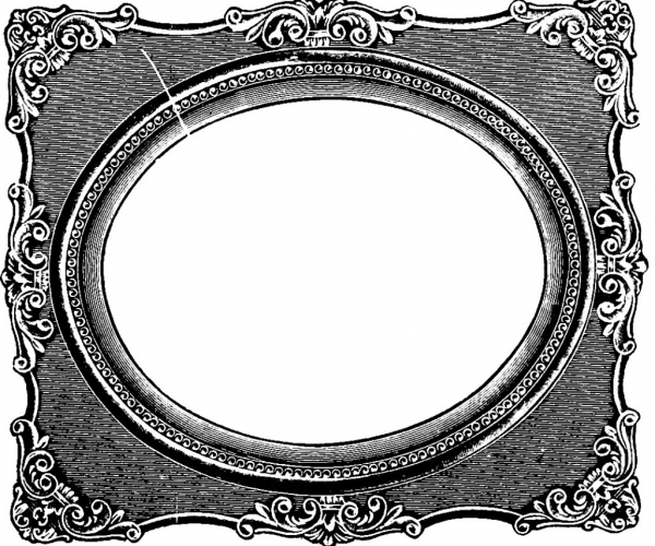 600x500 Extraordinary G Frame Vintage G Frame Clipart Clipartfest Oval G