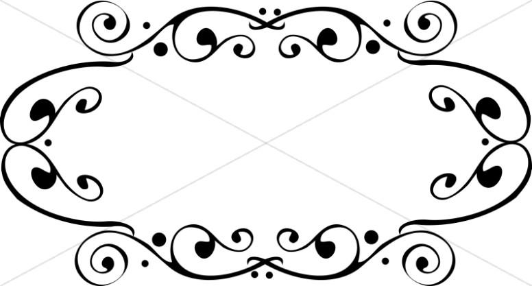 776x417 Fancy Oval Frame Religious Borders