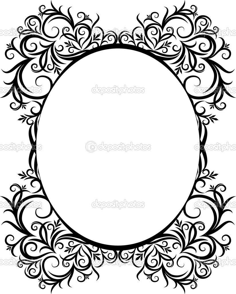 824x1024 Gothc Clipart Oval Filigree Frame