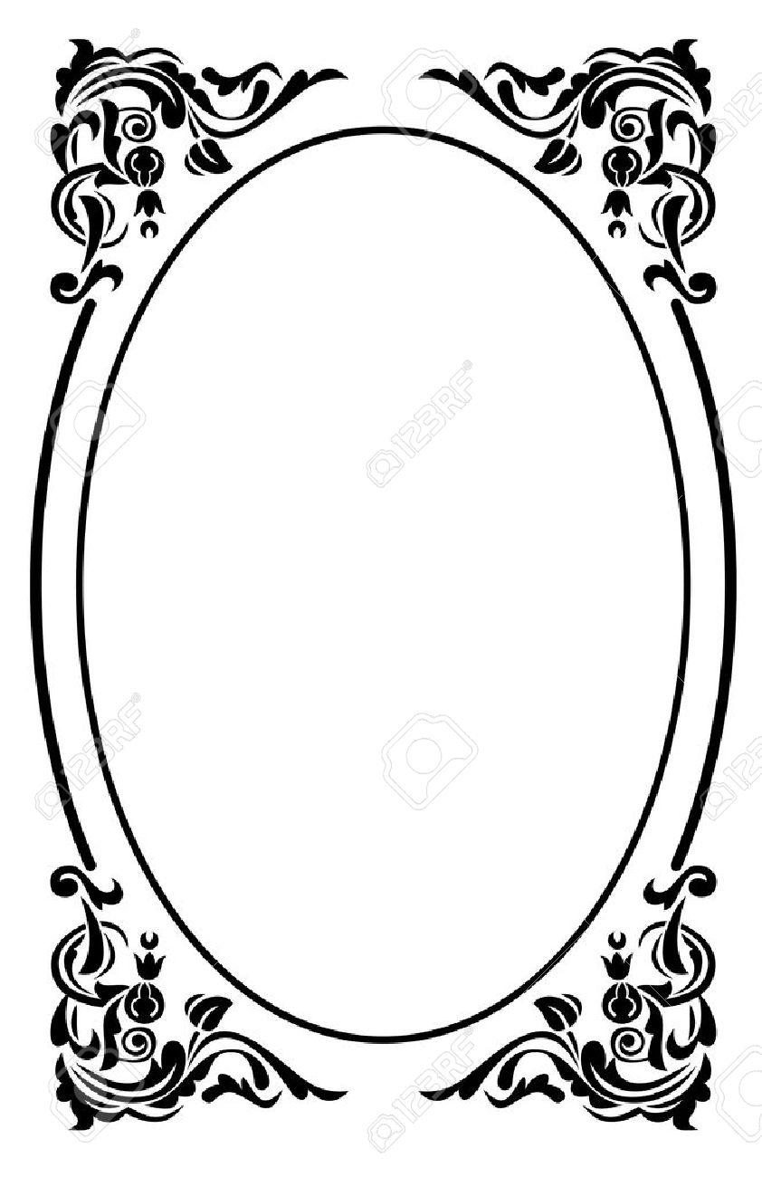 842x1300 Oval Frame Clipart