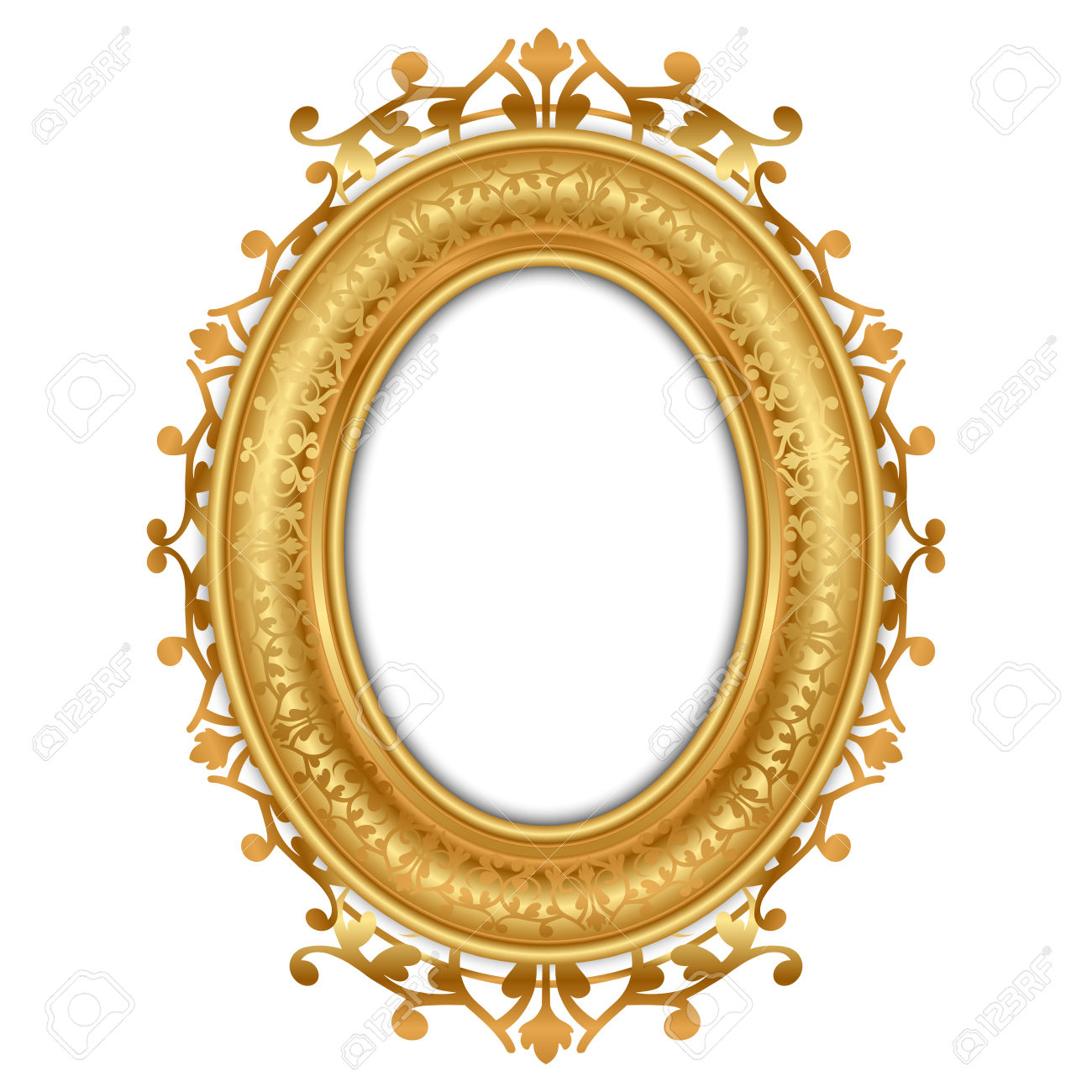 1300x1300 Oval Gold Frame Clipart Amp Oval Gold Frame Clip Art Images
