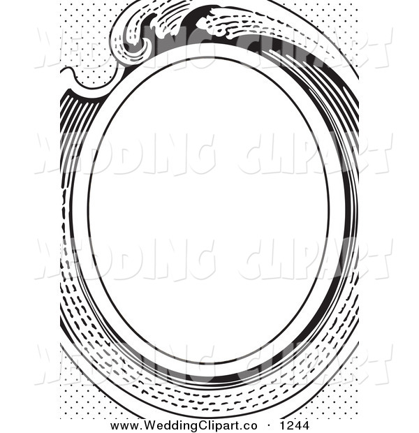 600x620 Vector Marriage Clipart Of A Black And White Victorian Wedding