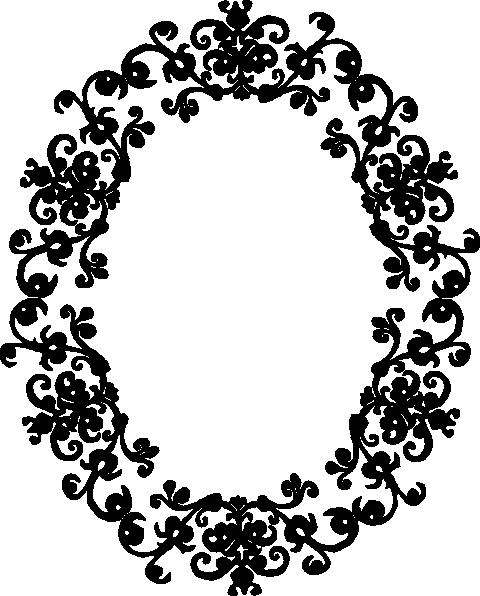 480x596 Vector Oval Borders Clipart