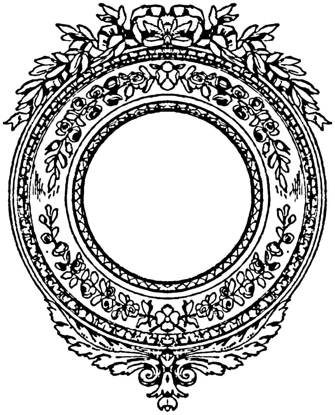 1149x1423 Vintage Round Frames Laurel Wreath Clipart Oh So Nifty Vintage