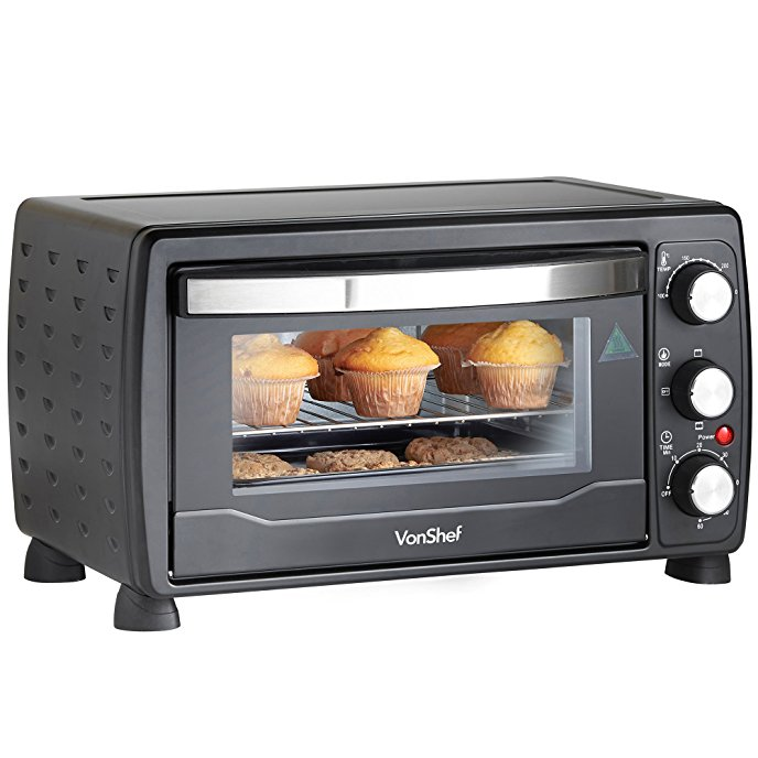 688x688 Vonshef 19l Black Mini Oven Amp Grill 1400w With Baking Tray Amp Wire