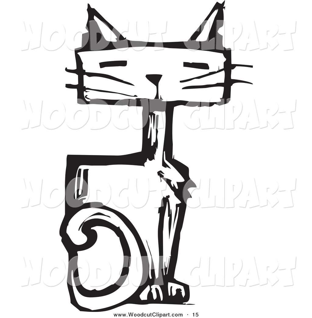1024x1044 Black And White Cat Clipart