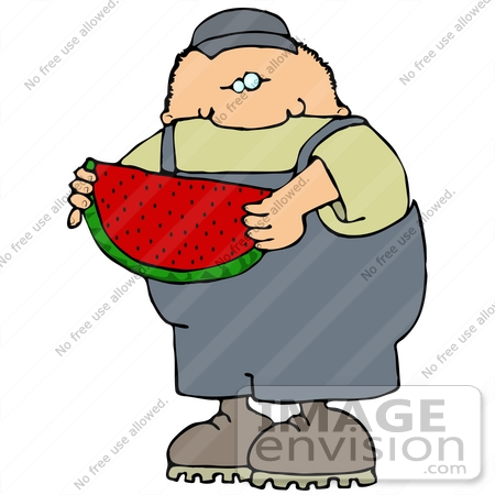 450x450 Clip Art Graphic Of A Boy Eating Watermelon