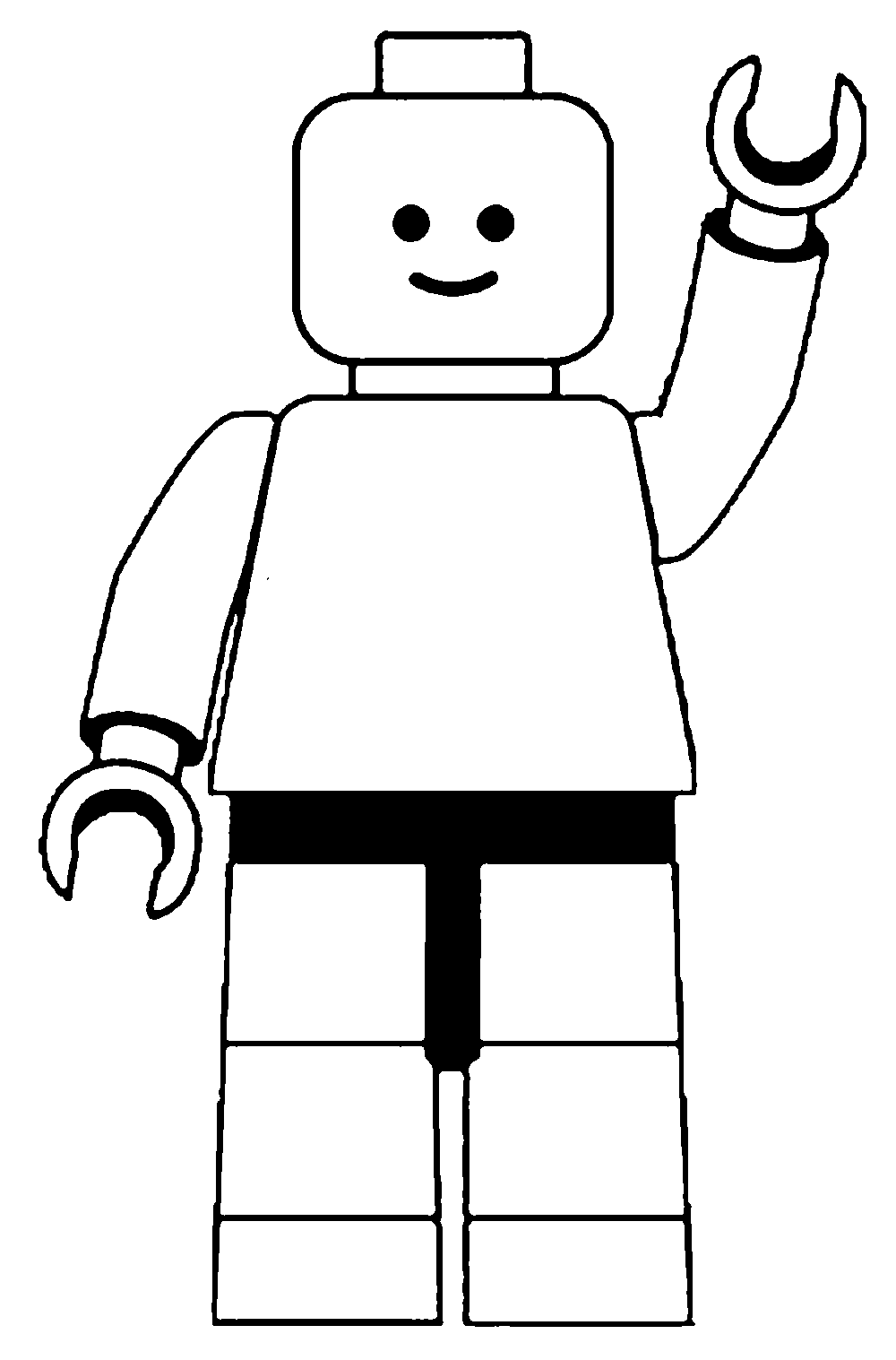 1000x1517 Lego Man Clip Art Black And White Craft + Gift Ideas