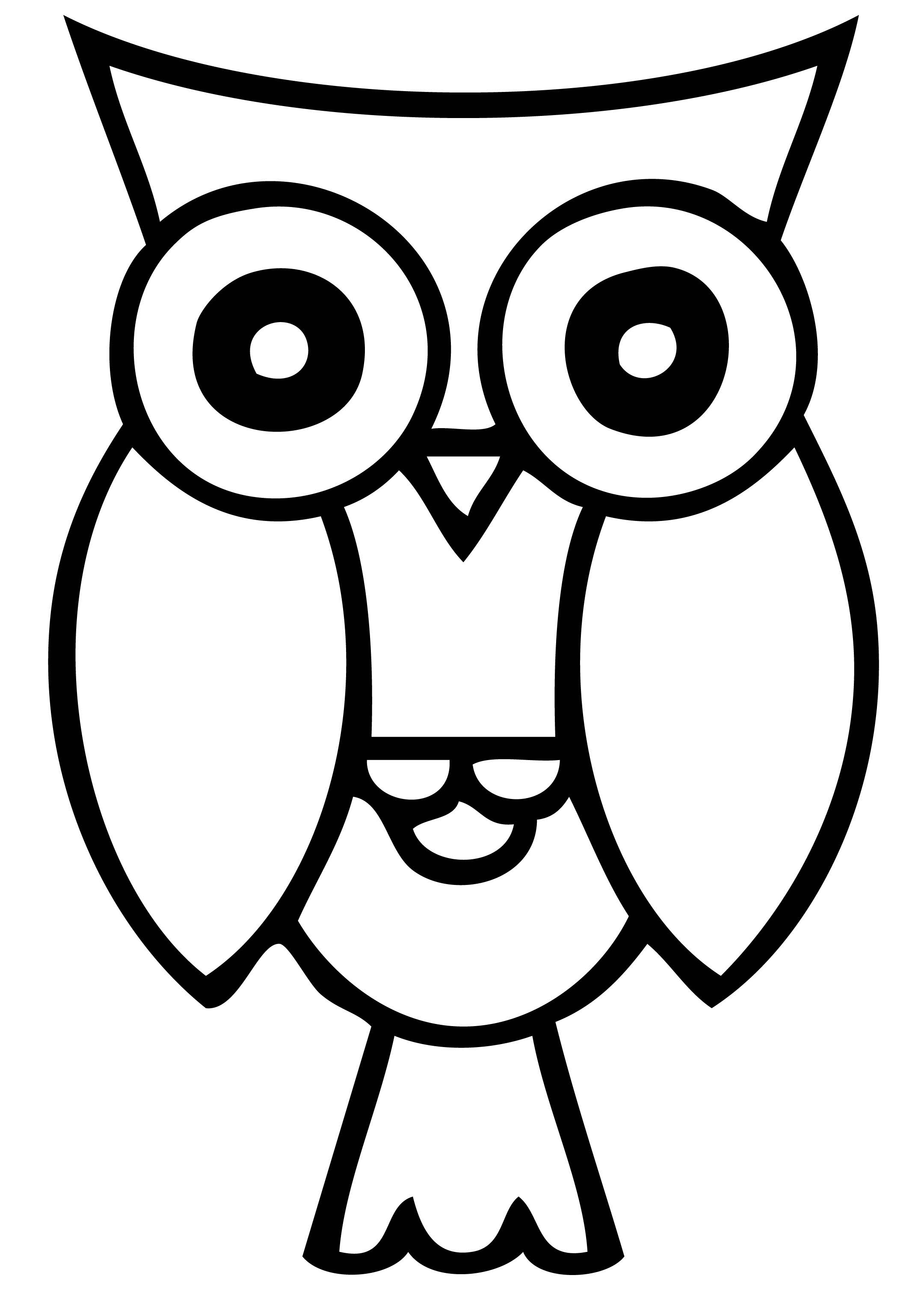 2160x3016 Fall Owl Black And White Clipart