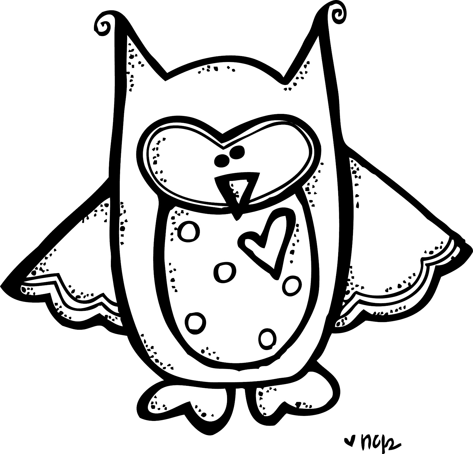 1600x1538 Owl Clipart Black And White